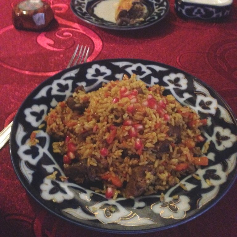 orez cu rodii uzbec
