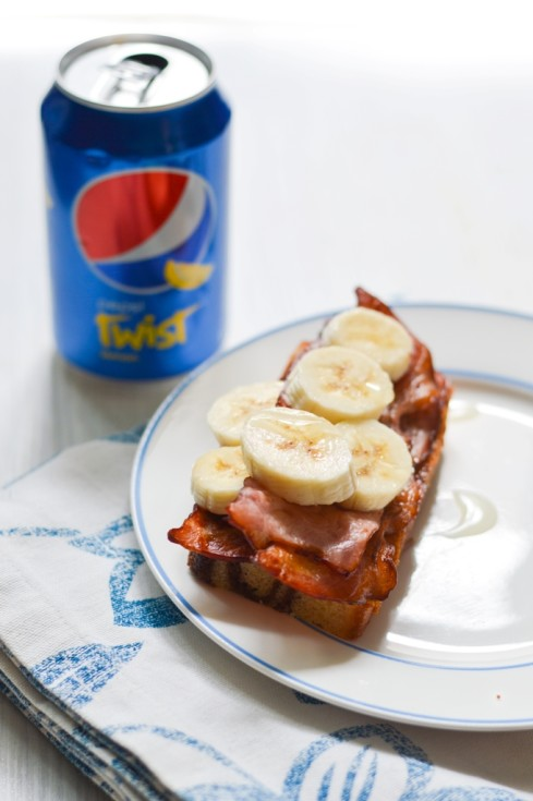 pepsi fun food bacon banana sandwich